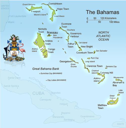 Map Of Bermuda And Bahama Islands